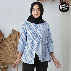 Blouse Batik Parang Biru Couple Marina