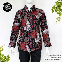 Blouse Batik Wanita Katun Primishima Motif Baturaden
