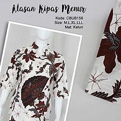 Blus Batik Tanggung Motif Kipas