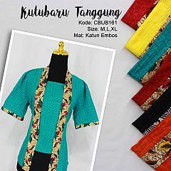 Blus Kutubaru Tanggung Motif Kotemporer