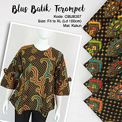 Blus Terompet Batik Motif Nagasari