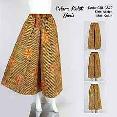 Celana Kulot Batik Motif Garis