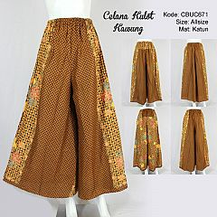 Celana Kulot Batik Motif Kawung