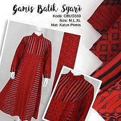 Comfy Syari Dress Batik Merah