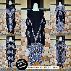 Daster Kelelawar Batik Monocrom HP Longdress