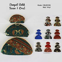 Dompet Batik Set 3 Oval