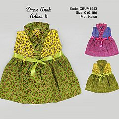 Dress Anak Adara Motif Bunga Size 0