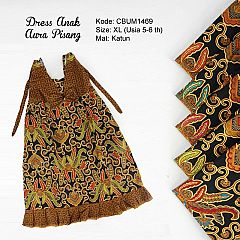 Dress Anak Aura Motif Pisang Size XL