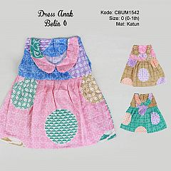 Dress Anak Belia Motif Etnik Size 0
