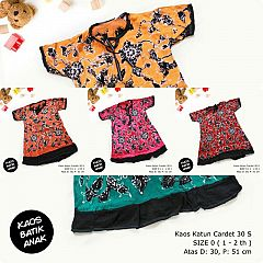Dress Anak Daster Kaos Batik Tuban Size 0 (1-2 th)