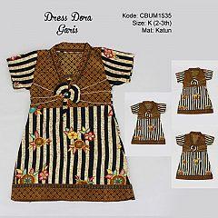 Dress Anak Dora Motif Garis Size K