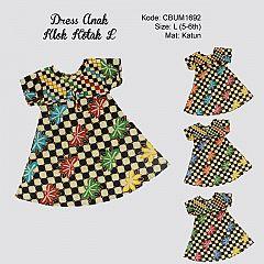Dress Anak Klok Kotak L