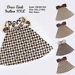Dress Anak Nina Motif Santoso Sogan Size XXL