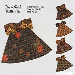 Dress Anak Nina Motif Santoso Size M