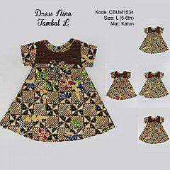 Dress Anak Nina Motif Tambal Size L