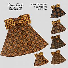 Dress Anak Nina Motif Santoso Colet M