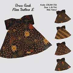 Dress Anak Nina Motif Santoso Sogan Size L