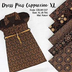 Dress Anak Pias Motif Cappucino Size XL