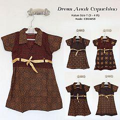 Dress Batik Anak Pias Cappucino Size T