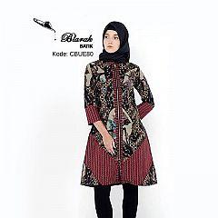 Dress Batik Blarak Motif Wayang Merah