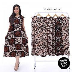 Dress Batik Cap Rayon Shibori Cantik