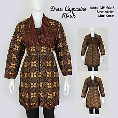 Dress Batik Cappucino Klasik