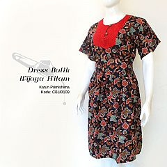 Dress Batik WIjaya Hitam