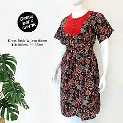 Dress Batik WIjaya Hitam