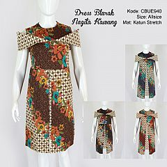 Dress Blarak Katun Stretch Nagita Kawung