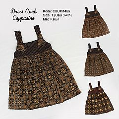 Dress Gandul Anak Motif Cappucino