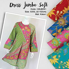 Dress Batik Jumbo Soft Motif Bunga