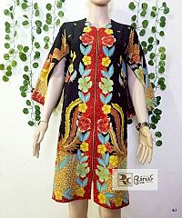 Dress Nagita Batik Bunga Trikot
