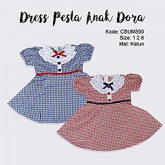 Dress Pesta Anak Dora Warna