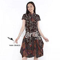 Dress Tumpuk Batik Blarak Motif Gerimis