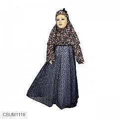 Gamis Anak Amira Hitam Size 8