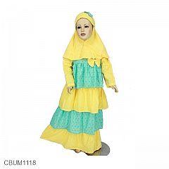 Gamis Anak Sally Kuning Size 4