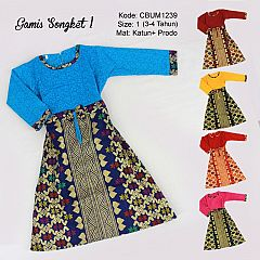 Gamis Anak Songket Size 1