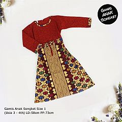 Gamis Anak Songket Size 1