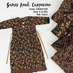 Gamis Batik Anak Cappucino