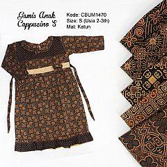 Gamis Batik Anak Cappucino Size S