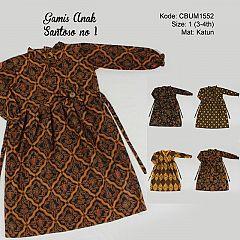 Gamis Batik Anak Santoso Size 1