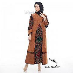 Gamis Batik Blarak Motif Kombinasi Wajib