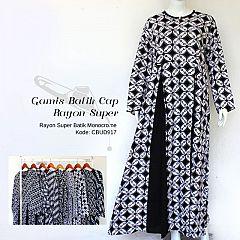 Gamis Batik Cap Rayon Super Monocrome