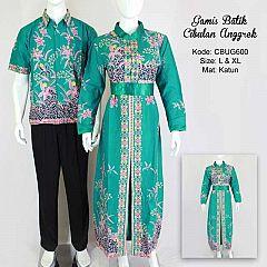 Gamis Batik Couple Cibulan Anggrek Tosca