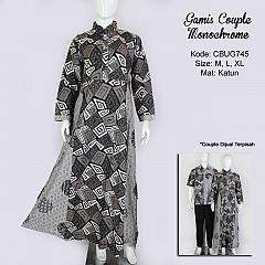 Gamis Batik Couple Monochrome