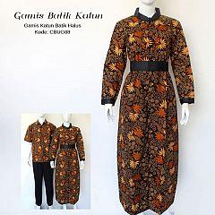Gamis Batik Katun Halus Motif Palem Pakis