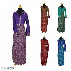 Gamis Batik Motif Bunga Tenun