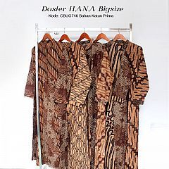 Gamis Hana Batik Sogan Klasik Bigsize