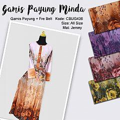 Gamis Payung Free Belt Minda