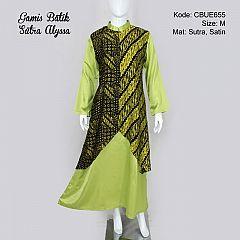 Gamis Pesta Batik Sutra Alyssa Green